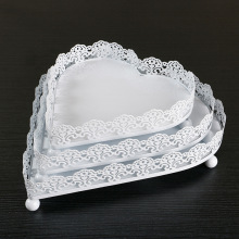 Wedding Decoration Cake Tools Baking Shop Cake Display Stands Home Kitchen Dishes Cupcake Heart Type Tray Plates