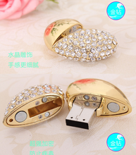 100pcs/lot crystal love Heart USB Flash Drive 4GB 8GB 16GB 32GB 64GB pen drive pendrive memory stick accept logo design usb(China)