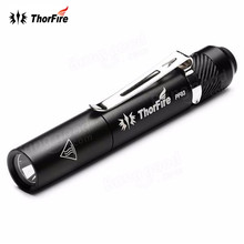 ThorFire PF03 110LM 3 modes LED Pen Flashlight Super Bright Mini LED Pen Light for Pocket light Torch with clip By AAA Battery(China)