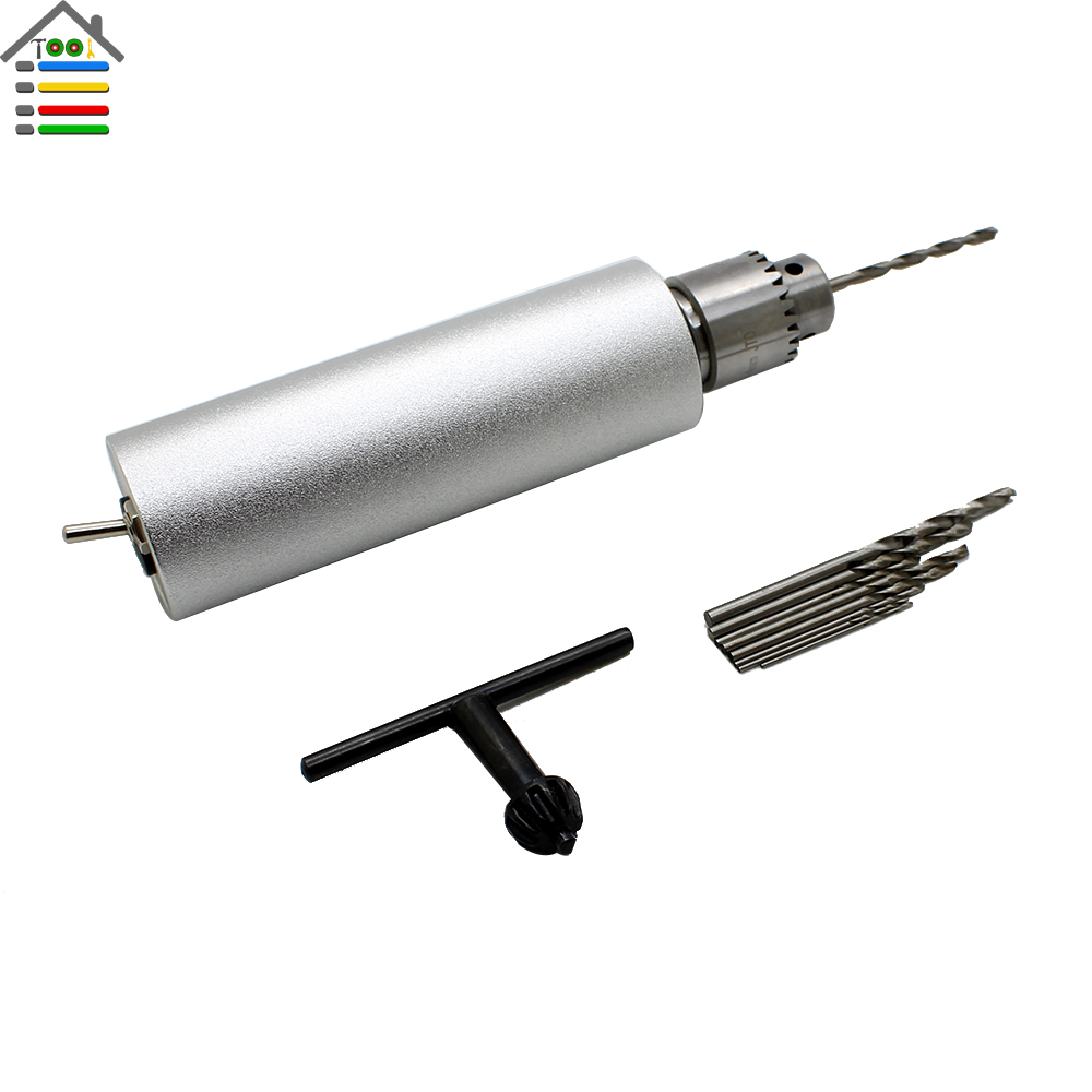 DC 12V 1A Electric Mini Hand Drill DIY Press Motor 0.3-4mm JTO Keyless Chuck with 10pc Twist Bit Set Model Hobby Tool<br><br>Aliexpress