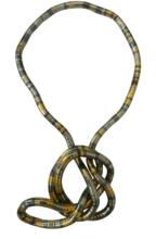 Retail 8mm 90cm Silver Gold Gun Black Iron Bendable Flexible Twisted Snake Necklace,1pcs/pack