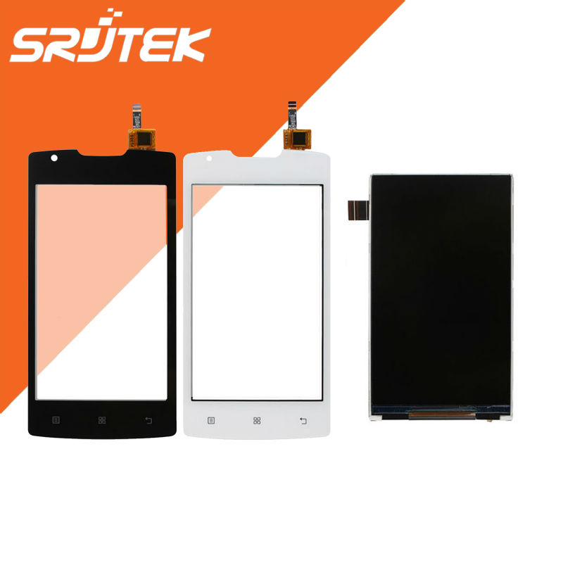 800*480 High Quality 4.0 inch 1 pcs LCD Display + 1 pcs Touch Screen  Digitizer Replacement  For Lenovo A1000 Black/White<br><br>Aliexpress