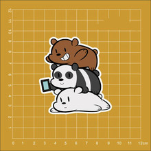 We Bare Bears Grizzly & Panda & Ice Bear ipad car stickers motorcyle skateboard Notebook trolley case backpack Tables decals