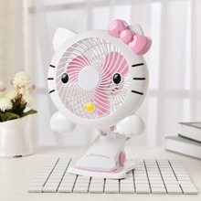 5V 3w Pink Hello Kitty Pattern USB 7 inch Mini Energy saving Clip Fan Electric Fan ABS material 22x30cm(China)