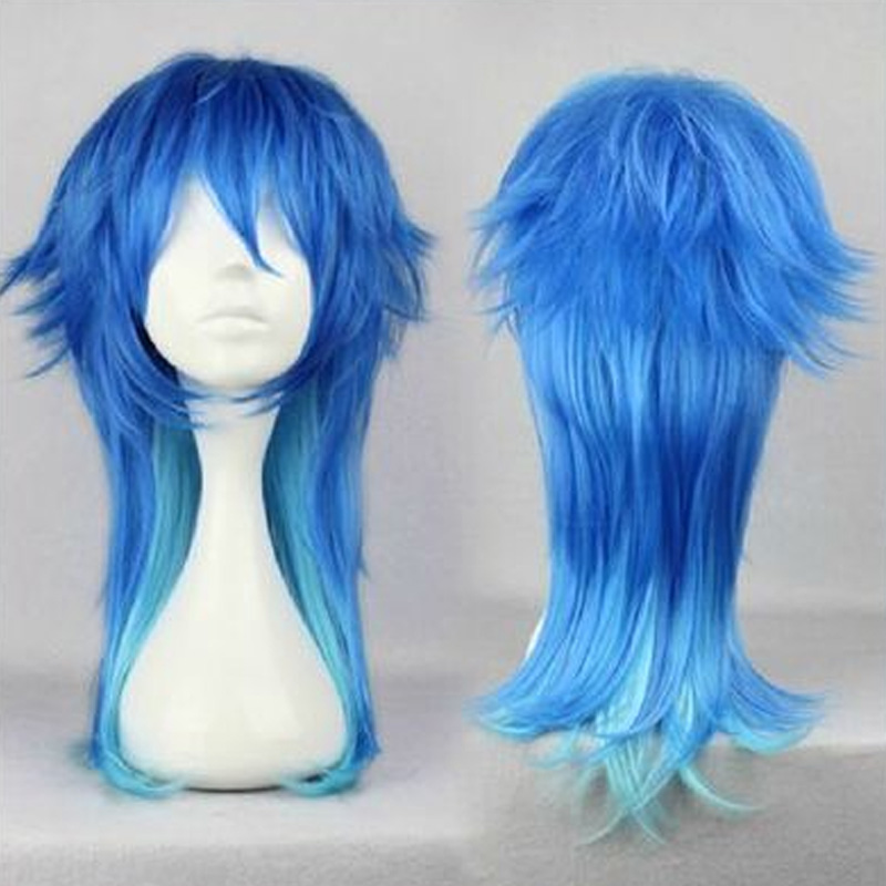HAIRJOY Anime Dramatical Murder DMMD Seragaki Aoba Cosplay Wig Two Tone Blue Ombre Synthetic Hair  Costume Party Wigs<br><br>Aliexpress
