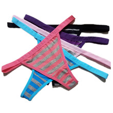 Buy 3 PCS Thong Seamless G String Sexy Underwear Bikini Panties Plus Size Striped Thongs Lady Lingerie Trace