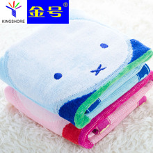 Miffy rabbit thickening towel 100% pure cotton bathroom towel handkerchief children face towel portable for travelling(China)