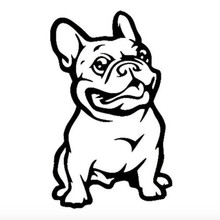 2017 New French Bulldog Pit Dog Funny Car Sticker Window Door Trunk Vinyl Motorcycle Decal Home Wall Decor Puppy Art 11.5x7CM