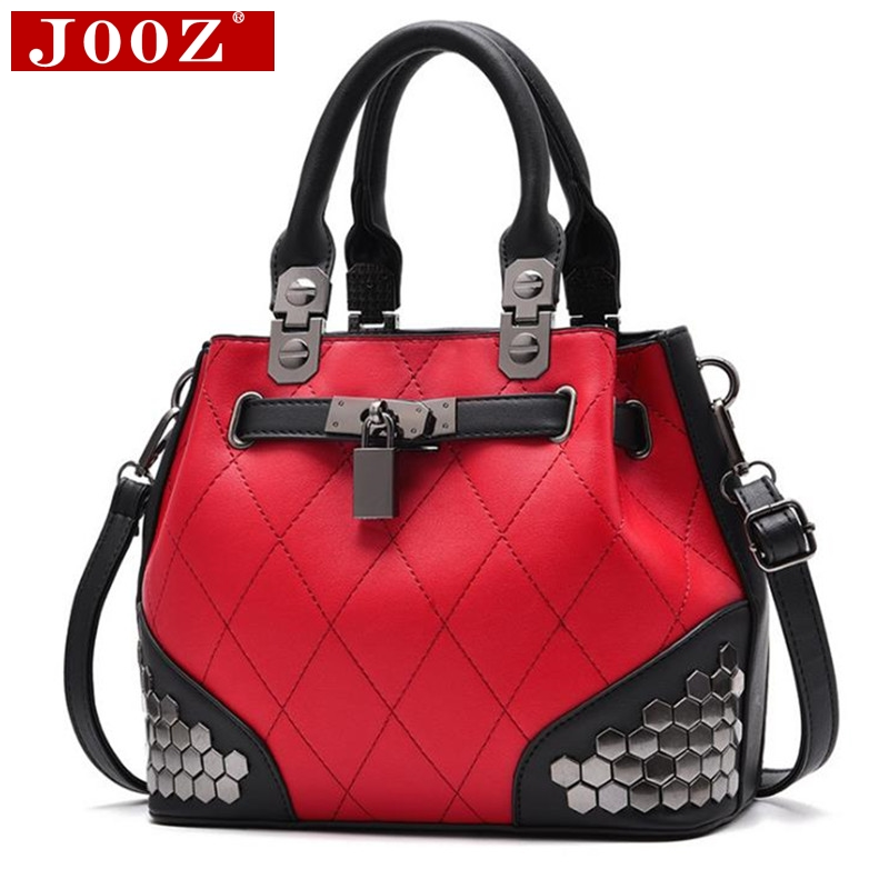 JOOZ Luxury Women Bag Tide Sequins Women's pouch lattice leather Handbag Brand designer totes Bolsas women Messenger bag