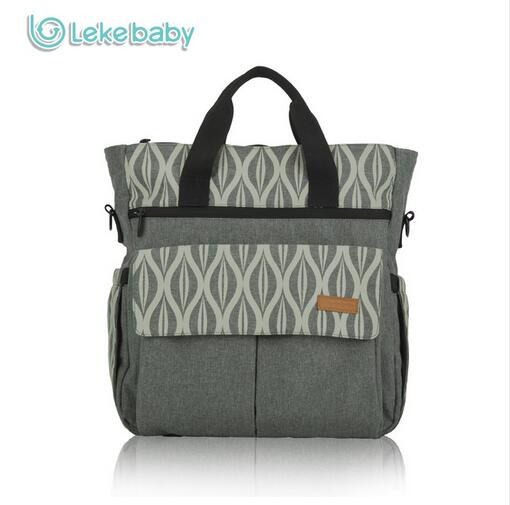 Lekebaby Diaper bag Fashion Baby bag Mom Maternity Bag Oversize Opening Printed Changing Nappy Tote Bag for Baby Stroller<br>