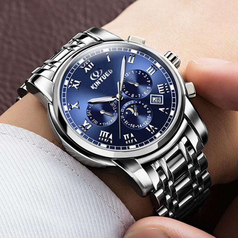 2017 Original Top Brand KINYUED Chronograph Men Sports Watches Waterproof Multifunctional Quartz Mens Watch Relogio Masculino<br>