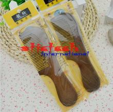 by ems or dhl 500pcs  Handmade Natural Sandalwood Wooden Comb Health Care Head Messager Hair Comb Hair Brush