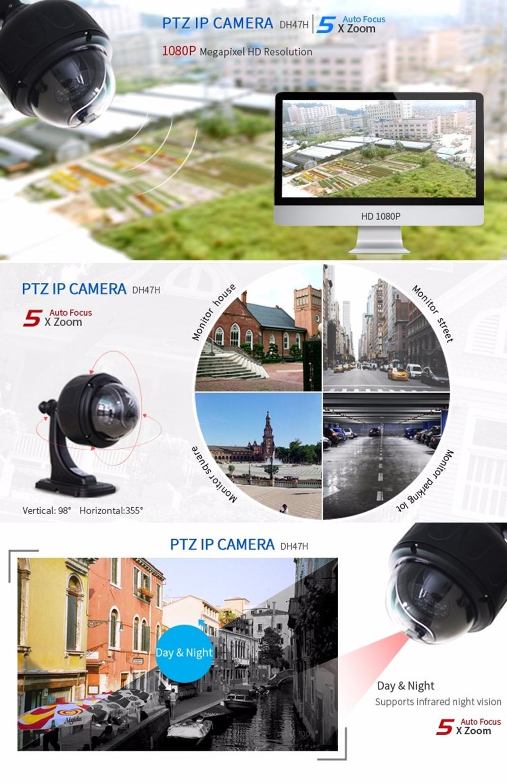 ZILNK 1080P HD PTZ Speed Dome Camera DH47H Black details (1)