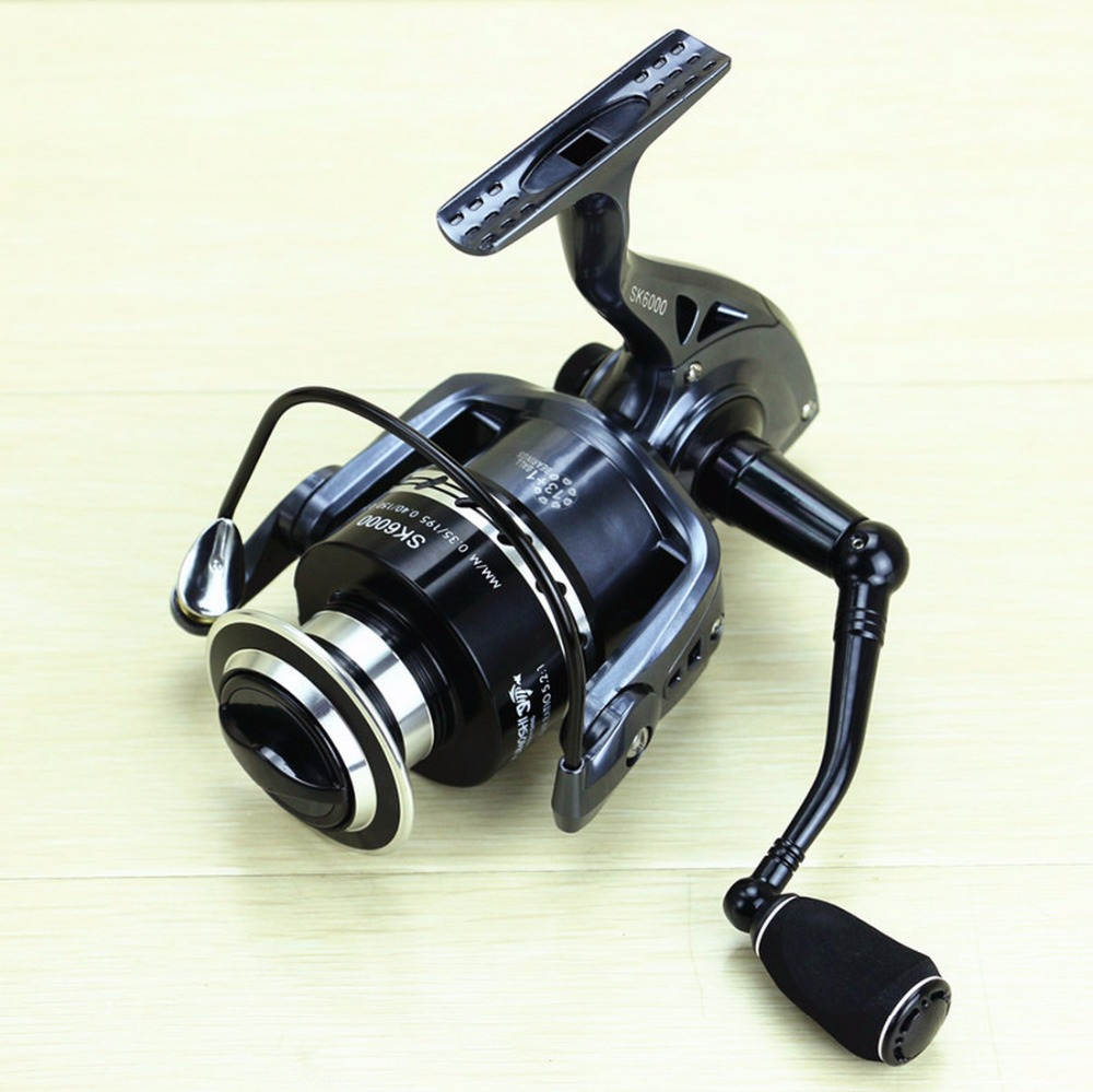 Free Shipping 13+1 BB Spinning Fishing Reel CNC Machined Handle EVA Knob SK Reels Yumoshi Dark Blue<br>