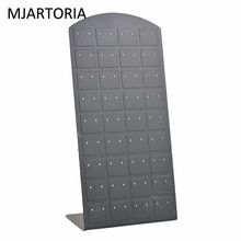 MJARTORIA Plastic Ear Display Organizer Stand Earrings Holder Storage Jewelry Display Stand 36Pairs Jewelry Display Rack Etagere