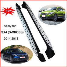 Newest side step side bar running board for Suzuki SX4 (S-CROSS) 2014-2018, newest design (BM and Ben style) , amazing effect