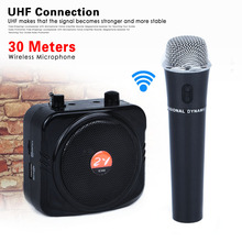 Porfessional Portable Amplifier Loudspeaker Megaphone Voice Booster AMP PA System Wireless Handheld Microphone For Teacher Guide(China)