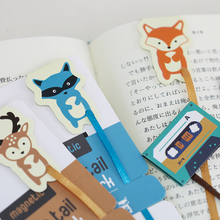 12 pcs/Lot Forest animal magnet bookmark Cassette tapes Book mark Stationery Office School supplies marcador de libros F377(China)