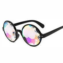 Ronde Rave Festival Holographique Lunettes Femmes Rose Kaléidoscope Cristal  lunettes de Soleil Marque Designer Rose Lunettes ea2f7a910776
