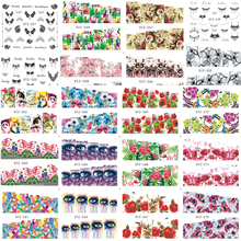 1 Sheet Nail Art Water Transfer Stickers New Beauty Full Cover Wraps Nail Tips Decal DIY Flower/Necklace Finger Tip BESTZ249-278(China)
