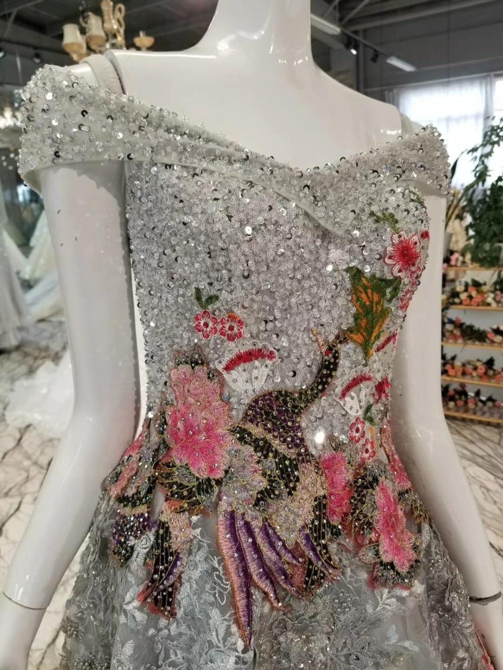 Birds Patterns Bling Crystals Celebrity Dresses