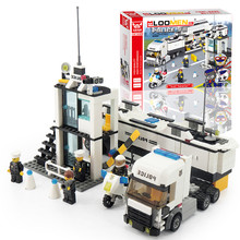 New 511pcs/set Building Blocks bus Police Station truck City Motorcycle Kids Children Toys Christmas Gifts for Kids(China)