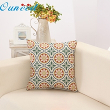Hot Marketing New Retro Geometrical Floral Linen Cotton Pillow Cases Cushion Cover Home Decor 100% brand new drop shipping Oct25