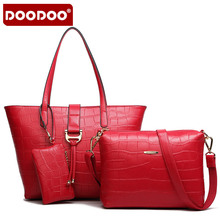 DOODOO Brand Crocodile Grain Lash Package 3 Times The European And American Fashion Handbag Best Service D4100