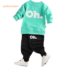 2017 Kids Clothes Set Baby Boys Girls Clothes Suit Toddler Boys Clothing Long Sleeve Tshirt Pants Casual Tracksuits Children Cl
