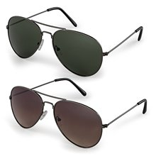 Classic Aviator Sunglasses and Black 100% UV Protection