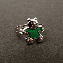 Bear Ring Change Color Mood Ring(China)