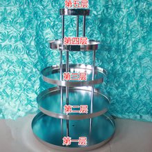 5 tier Wedding champagne tower wedding Supply props Silver Five layers champagne tower wine tower champagne tower
