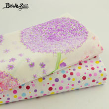Bedding Quilting Meters Lovely Flower Design 100% Cotton Twill Fabric Material  DIY Sewing 2PCS Mix Art Work Baby Cloth 40*50cm