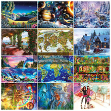 20 Types 100 pieces Jigsaw Landscape Puzzle Children Creativity World famous painting Puzzles Imagine Toys Valentine's Day Gift(China)