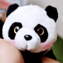 Kawaii China Big Ey Panda Animal Plush Stuffed Toy Doll For Children Christmas Gifts