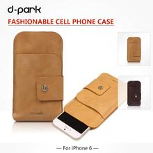 D-park Deluxe Genuine lambskin Leather Case Cover For iPhone 6/6s Plus 5.5 inch case For iPhone 6/6s 4.7 inch sleeve bag(China)