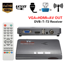 Portable Great 1pc HDMI 1080P VGA DVB-T2 TV Box VGA CVBS Tuner Receiver W/ Remote Control