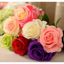 Artificial Color Rose Flower Romantic Valentines Rose Wedding Party Supplies 20pcs/lot SH924