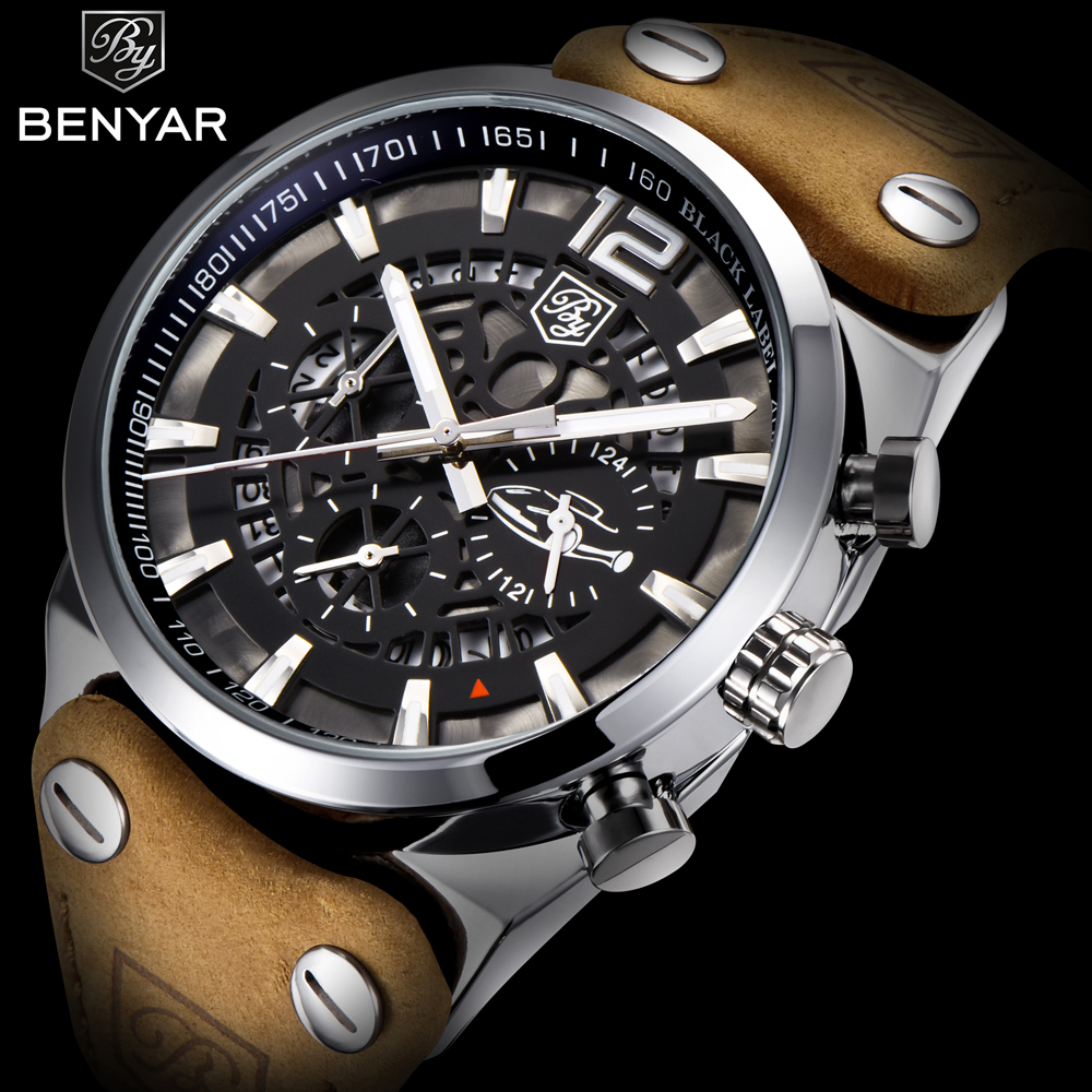 BENYAR Mens Watches Top Luxury Chronograph Sport Mens Watches Fashion Brand Waterproof Military Watch Relogio Masculino BY-5112M<br>