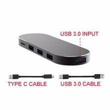 7-in-1 SuperSpeed USB 3.0 Type C Hub SD/TF/CF Card Reader Adapter for MacBook PC Laptop S8 G6 Android Phone