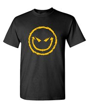 2017 Latest T Shirt Fashion Evil Smiley Mischievious Smile Goth Short Comfort Soft Crew Neck Shirt For Men