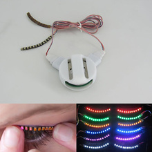 LED Eyelashes Eyelid False Eyelashes Unisex LED Light Eye Lash Luminous Shining Eyelash for Party Bar Makeup Eye Lash Eyelid