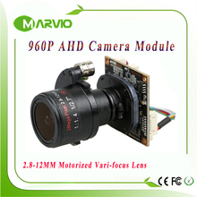 "AHD Camera 960P AHD-M HD 2.8-12mm Motorized Zoom & Auto Vari-Focal Lens 1/3""  Panasonic Sensor AHD CCTV Camera module board"
