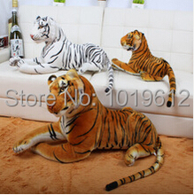 40cm Emulational Toy Plush Stuffed Life-Like Tiger Lying Posture Artificial Animal,Brown & White Color 1pcs