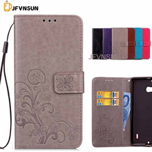 JFVNSUN Case for Microsoft Nokia Lumia 930 NEW Clover Flower Pattern Wallet Stand Phone Bag Leather Flip Cover for Lumia 930(China)