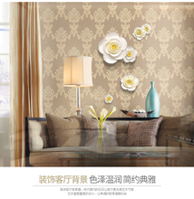 DIY 3D 4 PC Muons Wall Decorative Painting Bedroom Wall Stickers Sofa Background Wall Accessories Home Decoration Ceramic Flower(China)