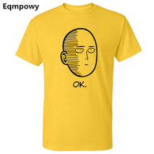 Eqmpowy summer 100% cotton ANIME One Punch Man Printed men T shirt Fashion cool confortable men's Tshirt casual t-shirt for men(China)
