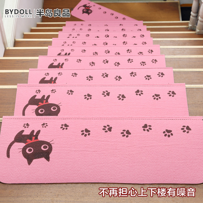Stairs mat warm non-slip self-adhesive lovely cat rug living room ...