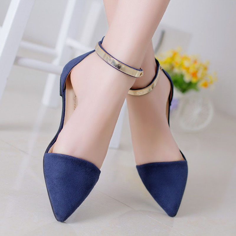 Woman Shoes Spring Summer 2015 Pointed Toe Flats Soft Fashion Brief Shoe KJ064<br><br>Aliexpress