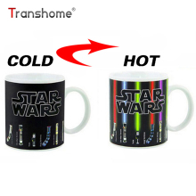 Transhome Personalized Color Change Porcelain Mug Star Wars Lightsaber 11oz Ceramic Coffee Mug Dragon Ball Series Mug China Bone(China)